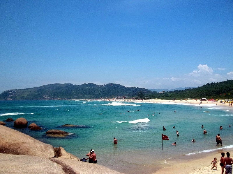 Turismo Capitais Florianopolis Praia Mole Brasil