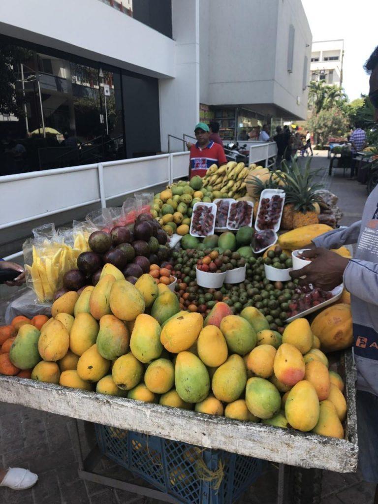 Cartagena Colombia Frutas A Venda Nas Ruas