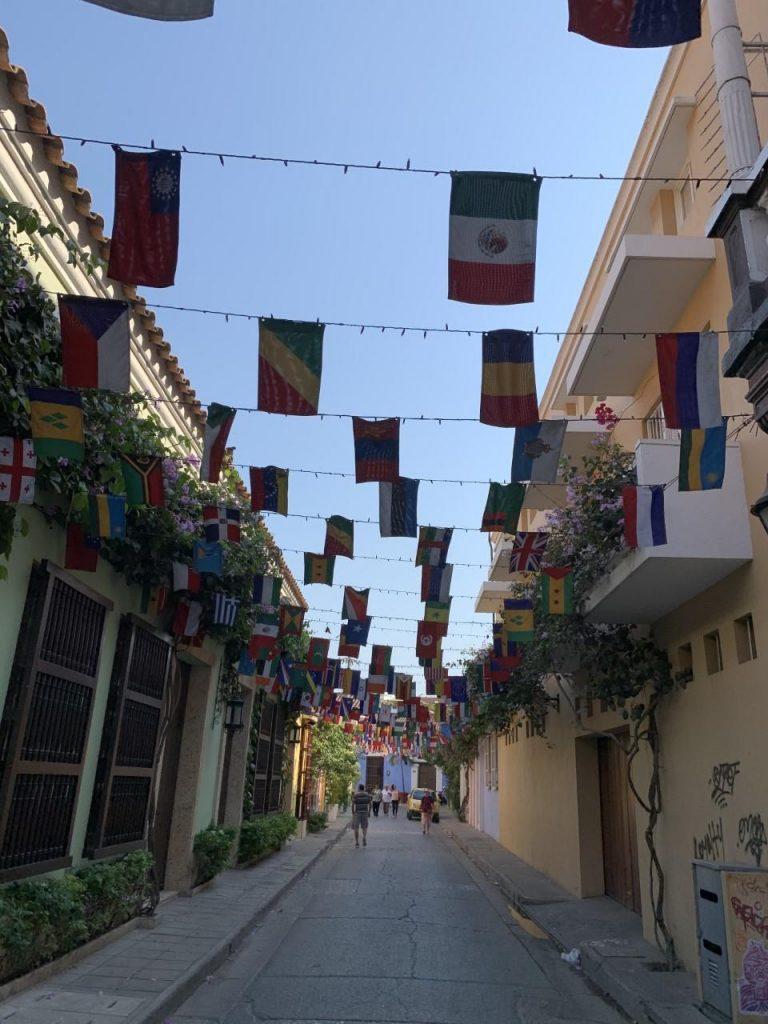 Ruas Dcidade Murada Cartagena Colombia