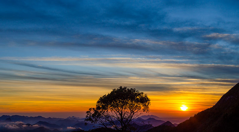 Sunrise In Pico_do_Caledonia Situated In Tres Picos State Park