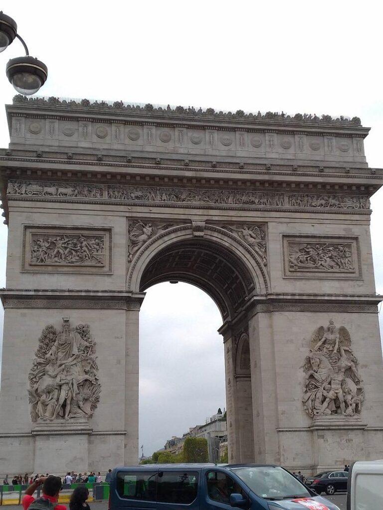 Paris the Arc de Triomphe